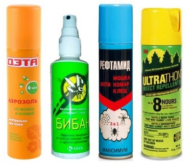 Репелленты для защиты от гнуса, диметилфталат, ДМФ, диэтилтолуамид, ДЭТА, бензимин, гексамид, дибутилфталат, ДЭКСА, индалон, карбоксид, кюзол, репеллин-альфа, их свойства и действие на комаров, мошек, мокрецов и слепней.