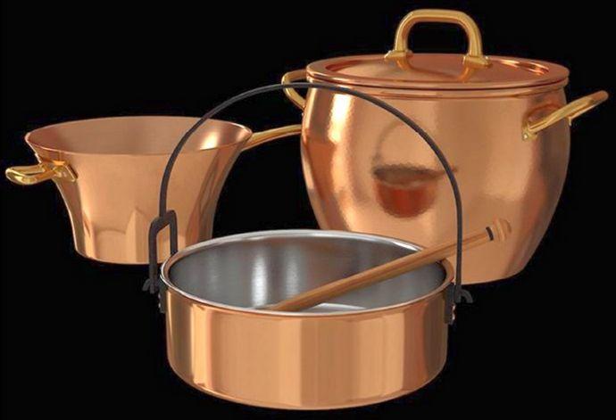 Кухонная посуда из чугуна и меди, достоинства и недостатки, совместимость с продуктами, механические и бытовые свойства, теплопроводность.