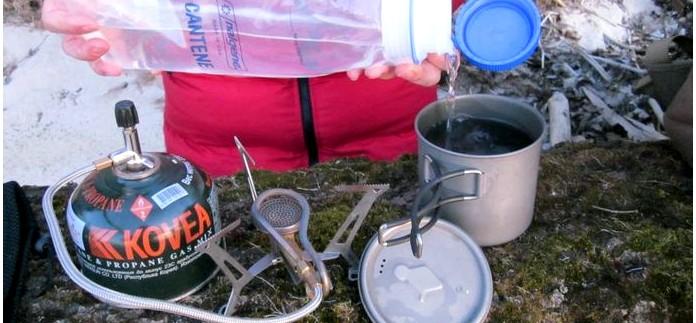 Складная газовая горелка Primus Express Spider со шлангом, обзор, особенности устройства и работы горелки в полевых условиях.