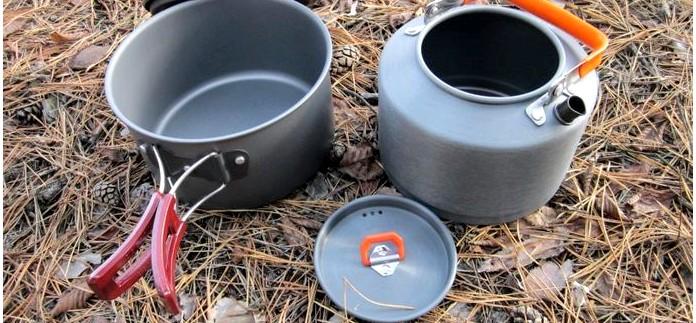Походный чайник Fire-Maple Feast T4 и походный котелок Fire-Maple FMC-212S в качестве набора походной посуды, обзор.