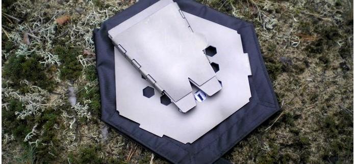 Компактная складная походная дровяная печь Vargo Hexagon Backpacking Wood Stove из титана, характеристики, описание, обзор и рабочие качества.