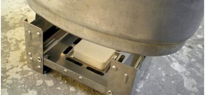 Pocket stove или карманная печь работающая на таблетках сухого спирта, описание, обзор.