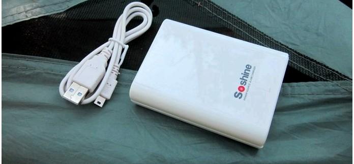 Powerbank Soshine SC-SAA с функцией зарядного устройства для аккумуляторов АА, обзор.