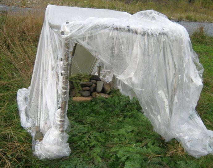 Как сделать походную баню на основе палатки или тента, общее устройство, как париться в импровизированной походной бане.