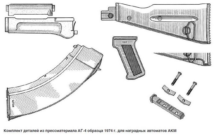 Наградные автоматы Калашникова АКМ и АК-74 для Пограничных войск КГБ СССР, обзор.