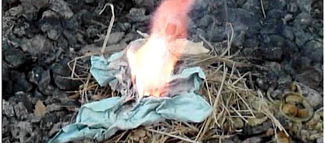 Добыча и разведение огня химическим способом, с помощью химических веществ, в полевых и походных условиях.