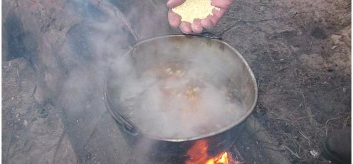 Как приготовить кулеш, полевую кашу, на костре в походе, рецепт кулеша от dkarpov.