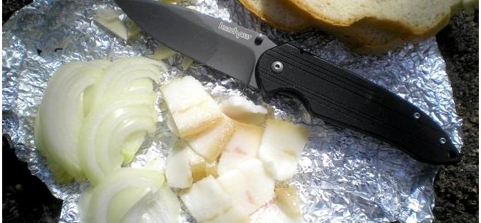 Складной нож Kershaw Scamp Folding Knife, фотоотчет и обзор, особенности устройства, впечатления от работы.