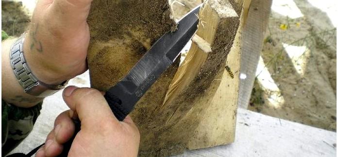 Туристический и метательный нож Стрела производства Кизляр, фотоотчет, тест, обзор.