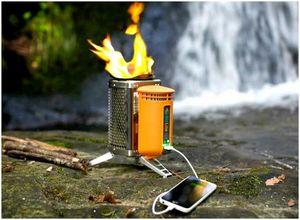 Дровяная печь BioLite: заряжайте телефон во время приготовления