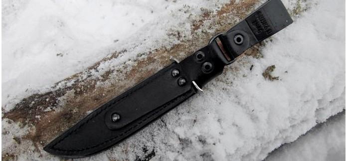 Туристический нож Финка-2 от Златоуст АиР, сталь 95х18, рукоять береста, фотографии, краткий обзор.