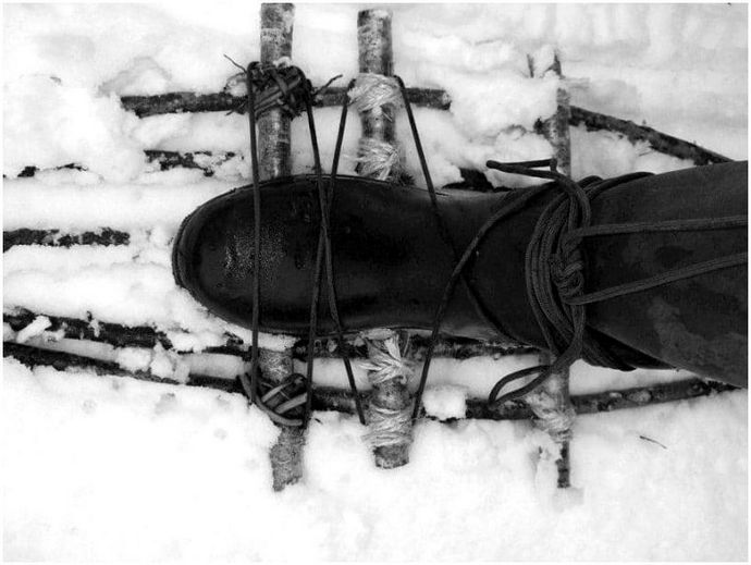 Как передвигаться на снегоступах