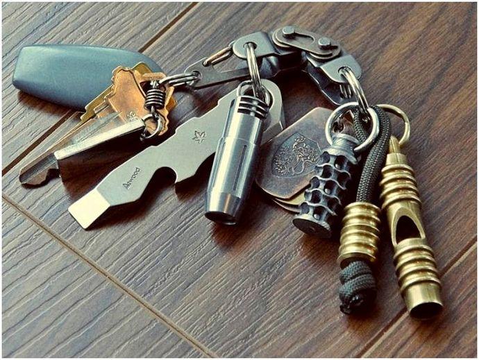 Элементы цепочки ключей EDC: организация и практичность в вашем кармане