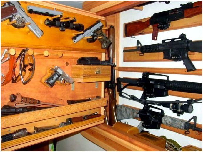 Хранение скрытого оружия: идеи и проекты DIY