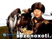 В Южном Казахстане прошли соревнования по орлиной охоте