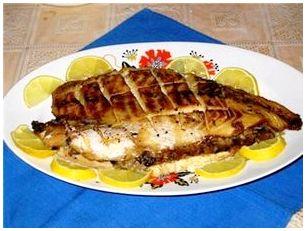 Филе морского окуня с арахисом