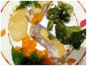 Филе окуня с брокколи