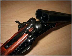 Взаимодействие частей и механизмов двустволнего ружья