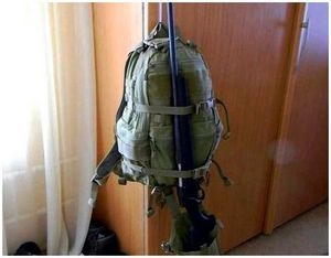 Способы переноски ружья на рюкзаке