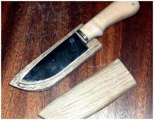 Как самому изготовить деревянные и холщовые ножны?