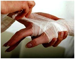 Первая помощь при порезах