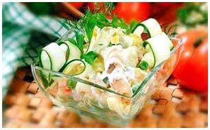 Салат из соленого карася
