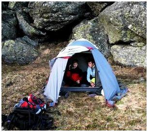 Тамбур палатки