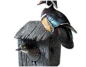 Самодельное гнездо для дикой утки