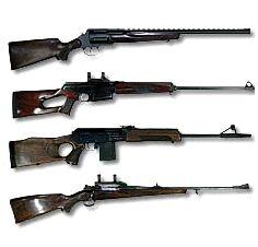 Охотничье оружие гладкоствольное, нарезное