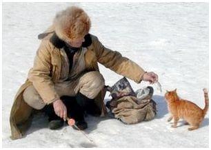 Одежка рыболова зимой