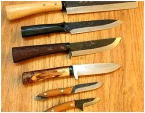 Клинок и рукоять ножей для охоты