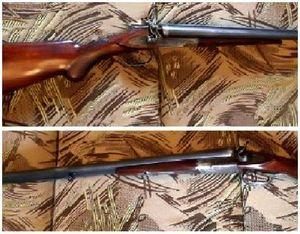 Внешнекурковое двуствольное ружье ТОЗ-БМ с горизонтальным расположением стволов