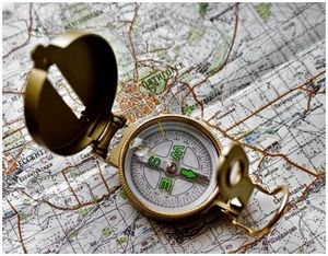 Ориентирование на незнакомой местности с компасом и картой