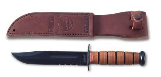 Не меньший интерес вызывает и нож USMC, производимый фирмой KA-BAR Чаще всего такой нож использовался среди морских пехотинцев