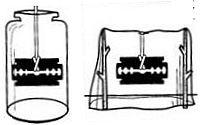 компас из лезвия безопасной бритвы