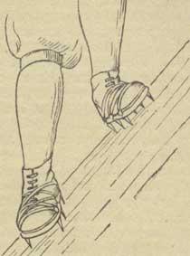 положение ног при траверсировании