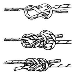Используется для связывания верёвок одинакового и разного диаметров.