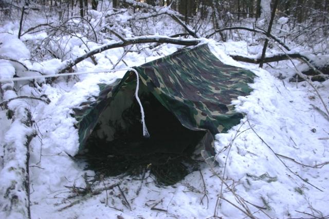 Ночевка в зимнем лесу. Организация ночлега. Часть 1