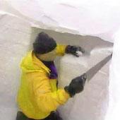 Trasa.Ru - С помощью лопаты или ножовки по дереву выпиливаем помещение в снегу