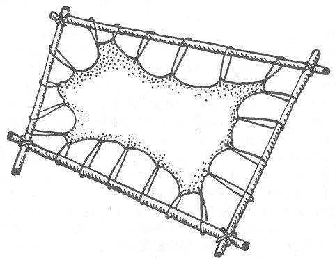 РИС. 26. Растяжка шкуры на раме
